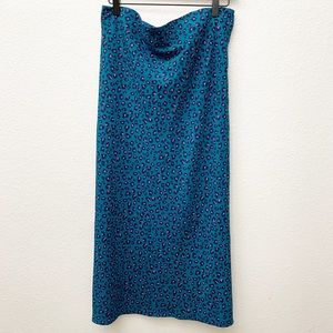 ELODIE Leopard Blue and Pink Women Long Sk…